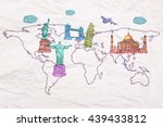travel concept with abstract... | Shutterstock . vector #439433812