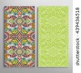 vertical seamless patterns set  ...   Shutterstock .eps vector #439436518
