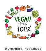. fresh healthy organic vegan... | Shutterstock .eps vector #439438336