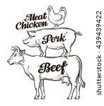 farm  animal husbandry  cattle... | Shutterstock .eps vector #439439422