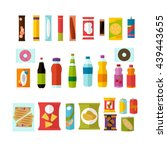 vending machine product items... | Shutterstock .eps vector #439443655