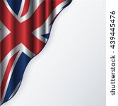 united kingdom flag with copy... | Shutterstock .eps vector #439445476