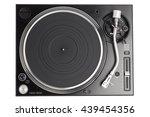 professional dj turntable... | Shutterstock . vector #439454356