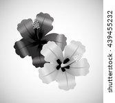 flower vector. garden icon.... | Shutterstock .eps vector #439455232