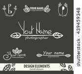 unique hand drawn logo template ... | Shutterstock .eps vector #439459348