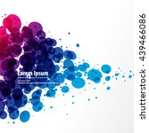 floating merging bubbles design ... | Shutterstock .eps vector #439466086