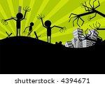 zombie scarecrow | Shutterstock .eps vector #4394671