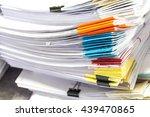 stacks of paper | Shutterstock . vector #439470865