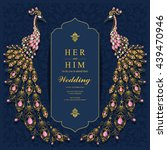 wedding invitation or card with ... | Shutterstock .eps vector #439470946