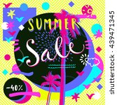 summer sale 40  discount. hand... | Shutterstock .eps vector #439471345
