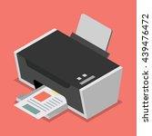 printer flat style isometric.... | Shutterstock .eps vector #439476472