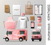 vector food truck corporate... | Shutterstock .eps vector #439476832