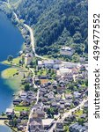Small photo of Top view of Hallstatt - beautiful Alpen village. Austria