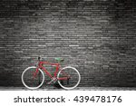 black and white photo of red... | Shutterstock . vector #439478176