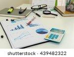 business chart showing... | Shutterstock . vector #439482322