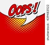 comic speech bubble  cartoon | Shutterstock .eps vector #439483522