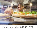 pizza chef and business owner | Shutterstock . vector #439501522
