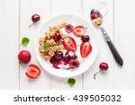porridge. healthy breakfast... | Shutterstock . vector #439505032