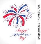 fireworks in national flag...   Shutterstock .eps vector #439510726