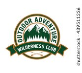 outdoor adventure retro badge... | Shutterstock .eps vector #439511236