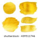 golden texture gouache stains...   Shutterstock . vector #439511746