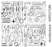 hand drawn sketch black marker  ... | Shutterstock .eps vector #439517188