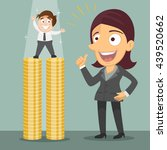 small businessman standing on... | Shutterstock .eps vector #439520662