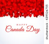 canada day background with... | Shutterstock .eps vector #439526755