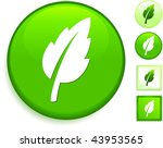 leaf icon on internet button...   Shutterstock .eps vector #43953565