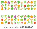 set of vegetable icons. | Shutterstock .eps vector #439540765