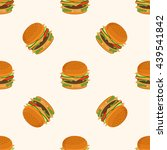 hamburger vector pattern on... | Shutterstock .eps vector #439541842