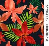 illustration of floral seamless ... | Shutterstock .eps vector #439546102