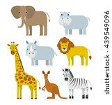 Cartoon Wild Animals Set In...