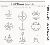 nautical icon set. collection... | Shutterstock .eps vector #439551082
