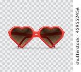 heart sunglasses  light...   Shutterstock .eps vector #439552456