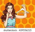 pop art illustration of girl... | Shutterstock . vector #439556215