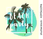 beach party. modern... | Shutterstock .eps vector #439561096