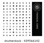 financial money icon set vector   Shutterstock .eps vector #439566142