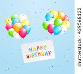 the inscription happy birthday... | Shutterstock .eps vector #439568122