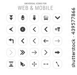 25 universal icon set. simple... | Shutterstock .eps vector #439577866