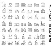 building icon set in thin line... | Shutterstock .eps vector #439579492