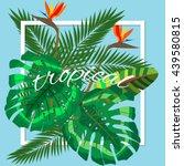 tropical leaves. floral design... | Shutterstock .eps vector #439580815
