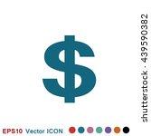 dollar sign icon   Shutterstock .eps vector #439590382