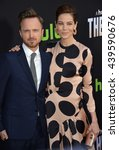 """Small photo of LOS ANGELES, CA - MARCH 21, 2016: Aaron Paul & Michelle Monaghan at the premiere for the Hulu original TV series """"The Path"""" at the Arclight Theatre, Hollywood."""