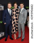 "Small photo of LOS ANGELES, CA - MARCH 21, 2016: Aaron Paul, Michelle Monaghan & Hugh Dancy at the premiere for the Hulu original TV series ""The Path"" at the Arclight Theatre, Hollywood."