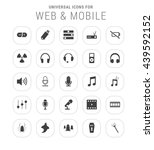 25 universal icon set. simple... | Shutterstock .eps vector #439592152