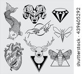 tattoos design | Shutterstock .eps vector #439605292