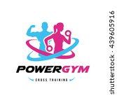 power gym logo  fitness logo...   Shutterstock .eps vector #439605916