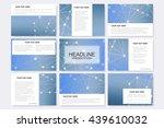 big set of vector templates for ... | Shutterstock .eps vector #439610032