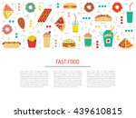 fast food  burgers  sandwiches  ... | Shutterstock .eps vector #439610815